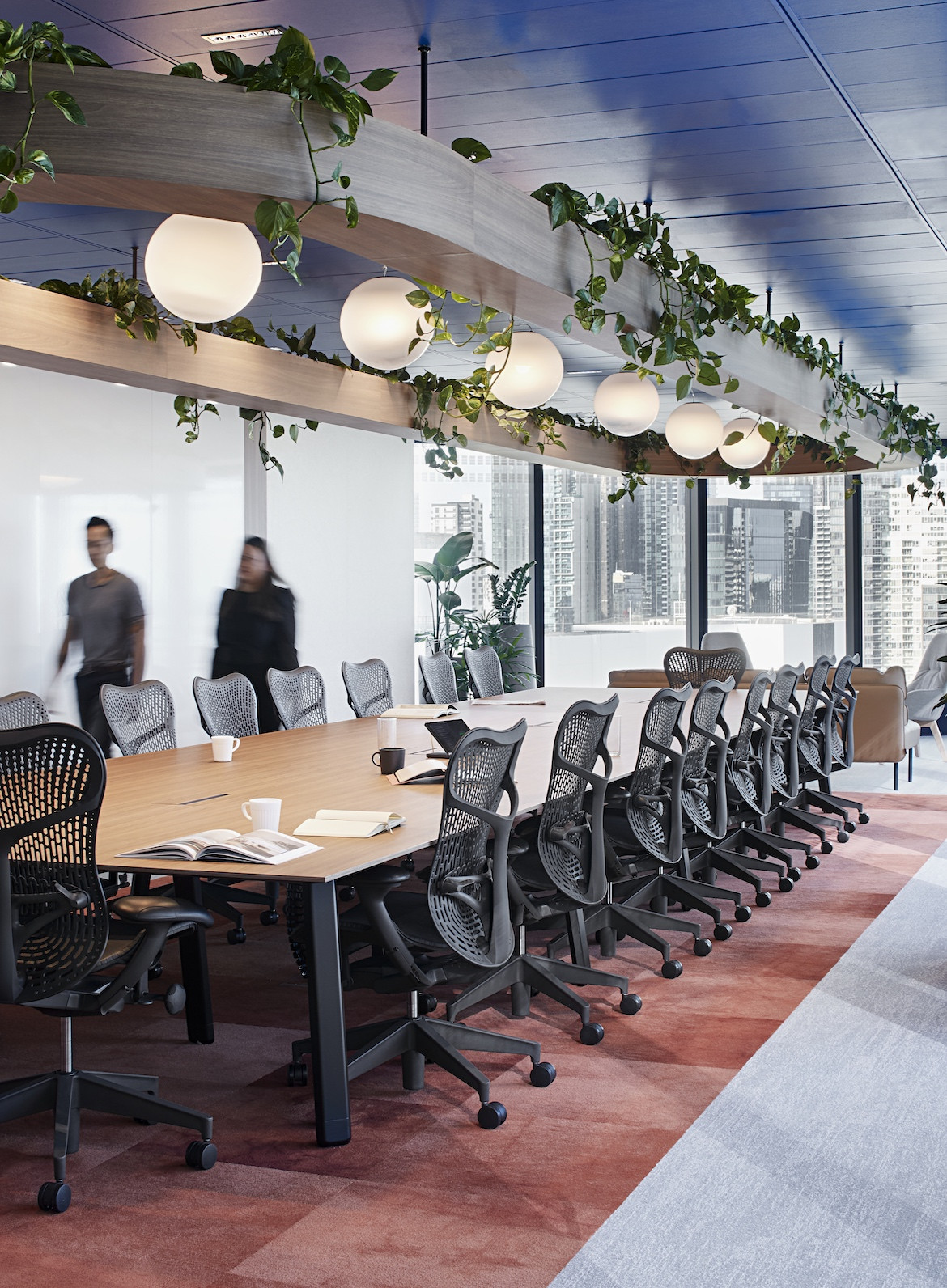 Boardroom in Entrance foyer to IDP Education's Melbourne office