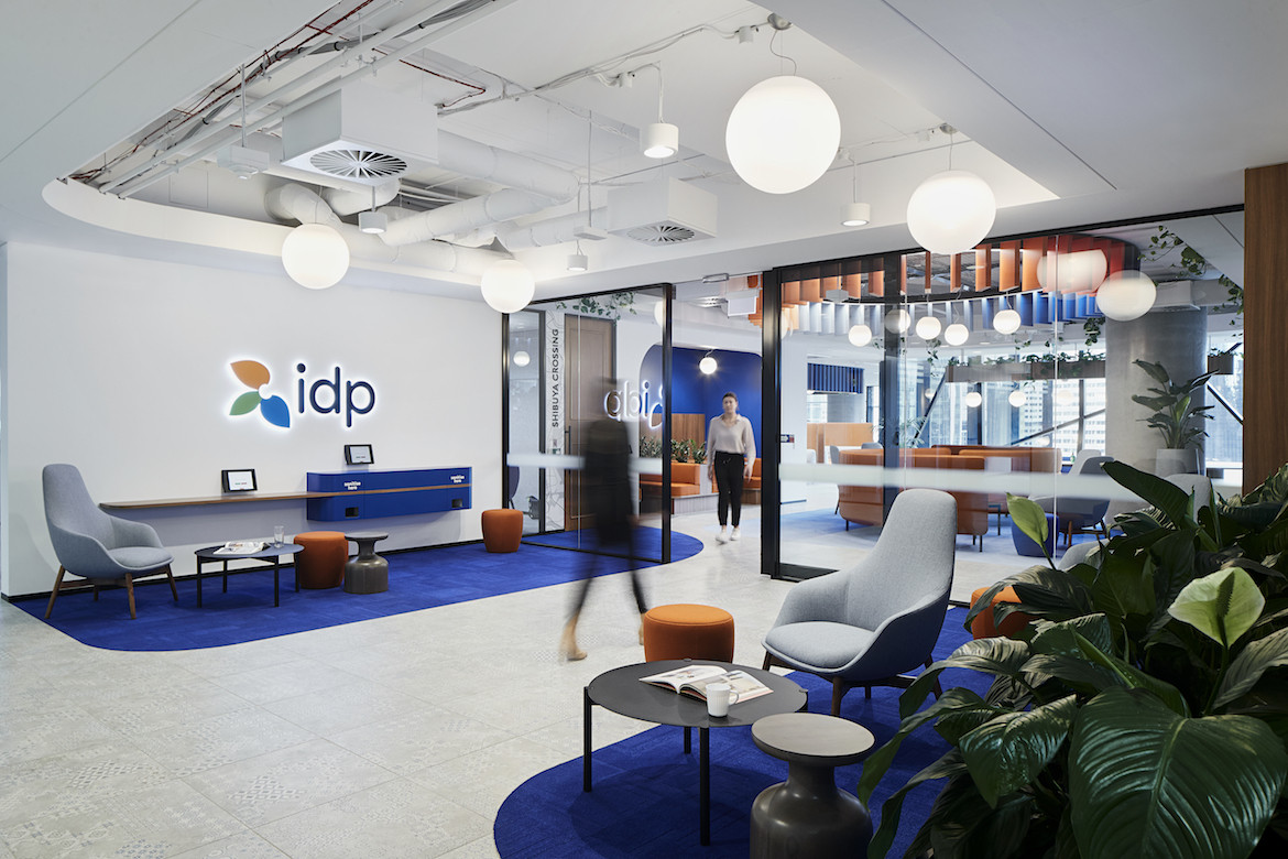 Entrance foyer to IDP Education's Melbourne office