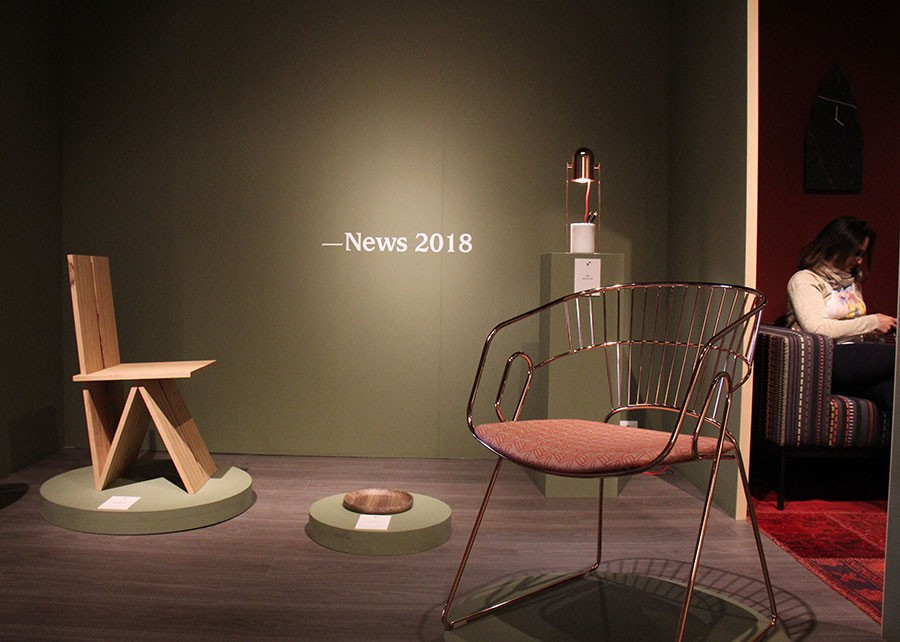 New pieces from Sitia at Salone. The Chloé lamp is pictured back right.