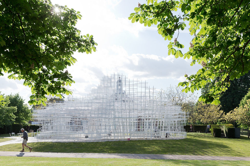 Sou Fujumoto's 2013 Serpentine Pavilion, London. Photo by Iwan Baan.