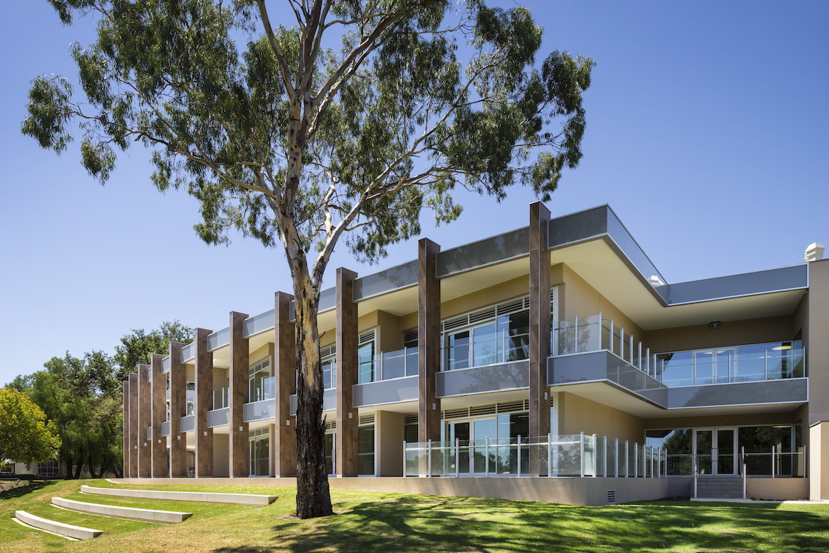 Exterior of Matthews Architects St Peters College