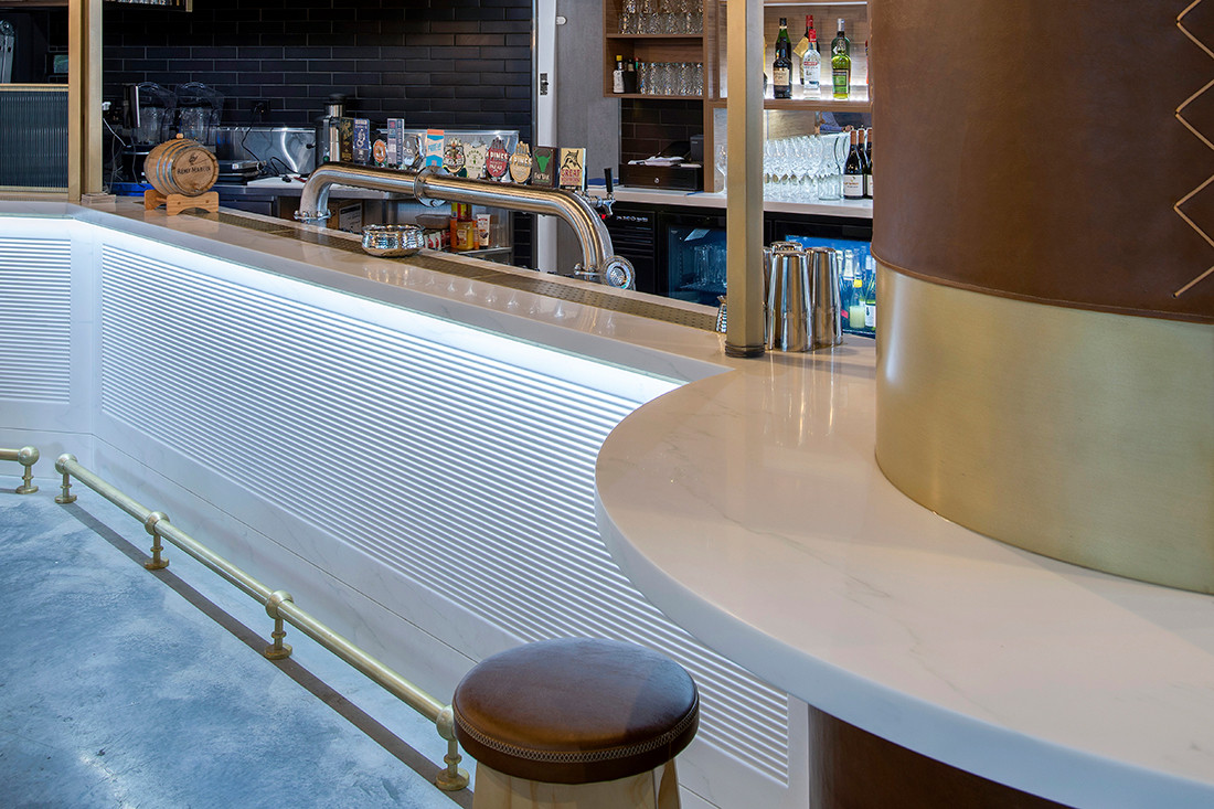 Staron® brings texture and elegance to The Whistle Dixie Café & Bar