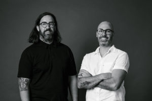 (L-R) Graham Charbonneau and Dave Bickmore, founders of studio -gram.