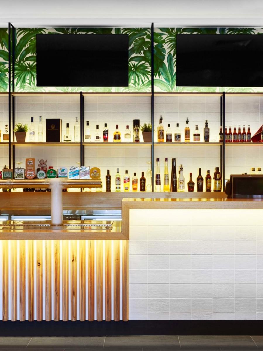 Surfair Beach Hotel bar.