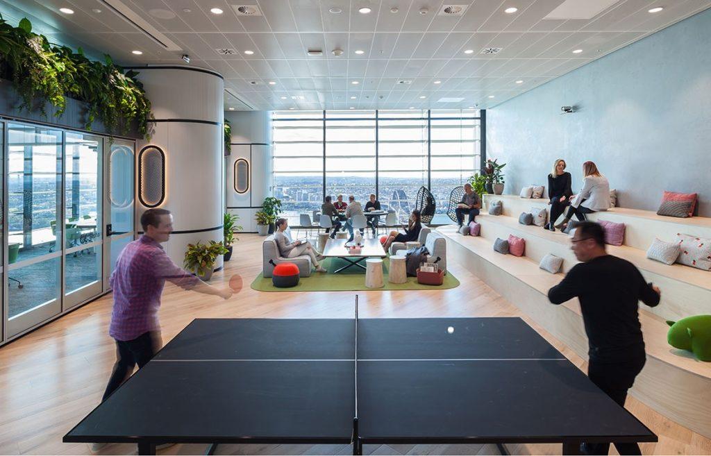 Susquehanna Gensler Sydney office pingpong