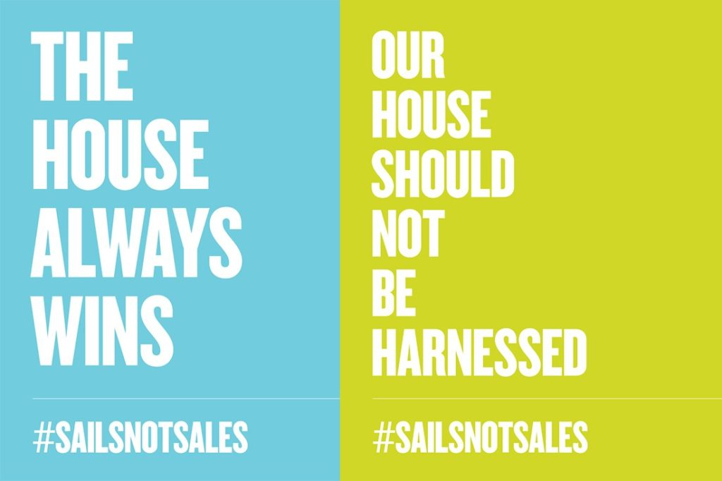 Sydney Opera House campaign by Marcus Piper –#sailsnotsales