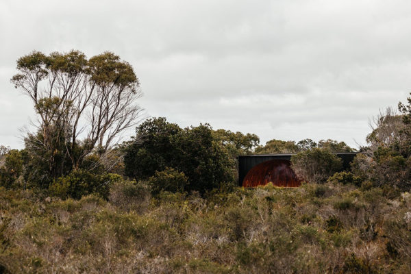 Krakani-lumi by Taylor & Hinds is a standing camp in Tasmania – the project was designed in consultation with the local Indigenous community. Photo by Adam Gibson.