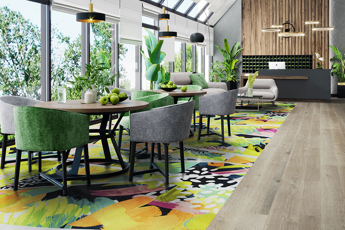 The future for hospitality carpeting is modular