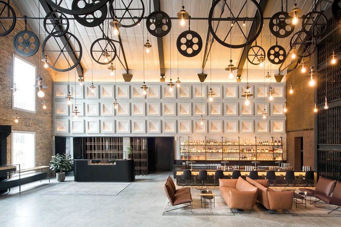 The Warehouse Hotel leverages its industrial past in its design while its lobby is activated as a social and event space. Photo: Asylum.