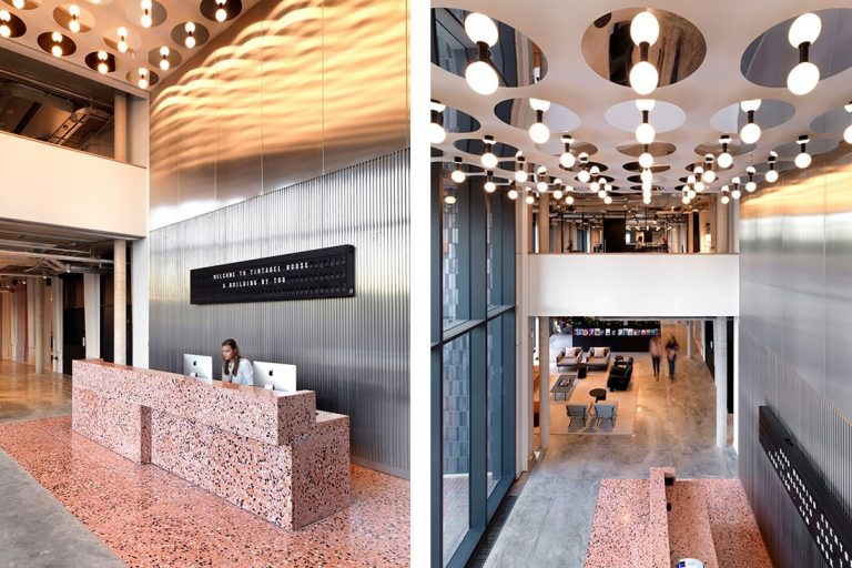 universal grown working indesignlive terrazzo surfaces references brushed aluminium building history