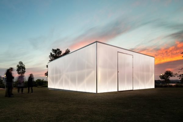 BLAK BOX, designed by Kevin O'Brien Architects asks users to consider Aboriginal history through an immersive experience