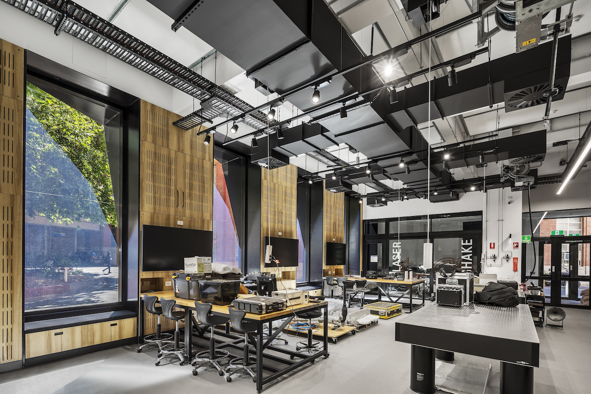 Interior of University of Adelaide Acoustics Facility by Matthews Architects
