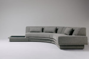 Agent 86 Curved Sofa Grey