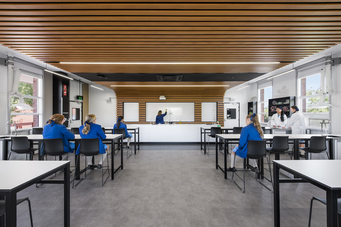 Walford Anglican School for Girls science lab by Matthews Architects