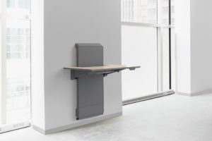 Ergoton's JŪV wall mount work surface.