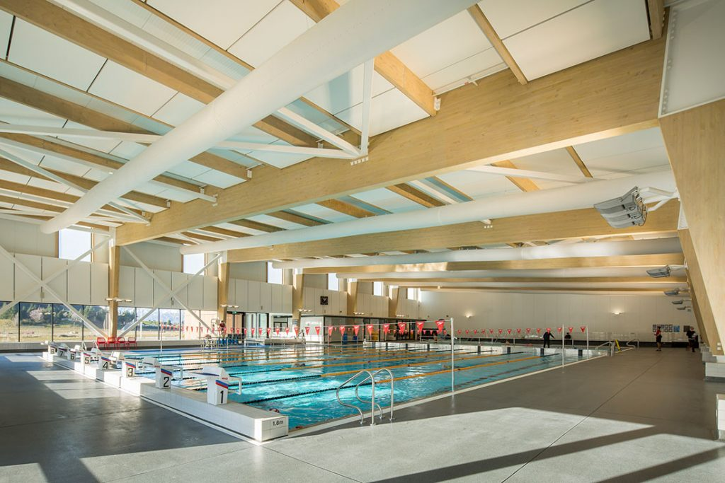 Wanaka Sports and Aquatic Facility by Warren & Mahoney. Photo by Simon Larkin.