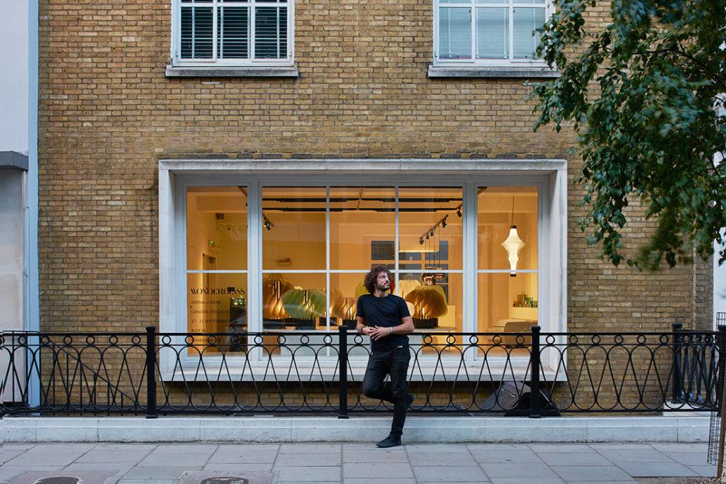 Christian Mussati outside WonderGlass Orwell House. Photo by James Harris.