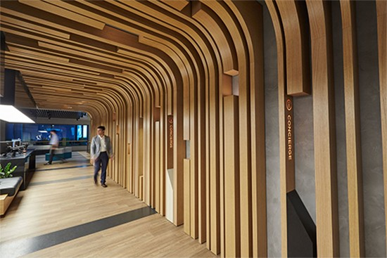 Barangaroo T2 by Woods Bagot with wayfinding by Urbanite.