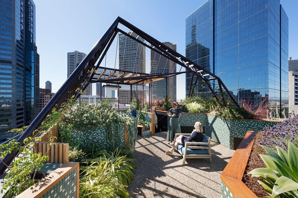 Phoenix Rooftop by Bent Architecture, shortlisted in the Landscape & Biophilia category.