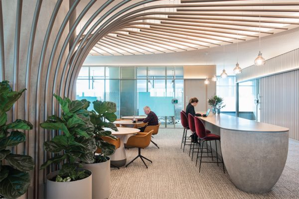 BEST IN CLASS: ARCHITECTURAL DESIGN – INTERIOR DESIGN ENTRY PwC Sydney client collaboration floors – designed by Futurespace.