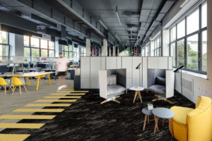Grey Charcoal Yellow Office