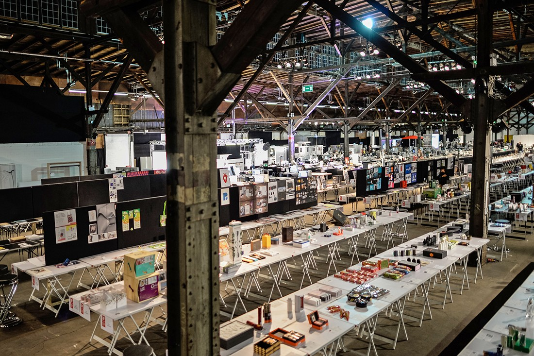 The judging hall, filled with thousands of entrants.