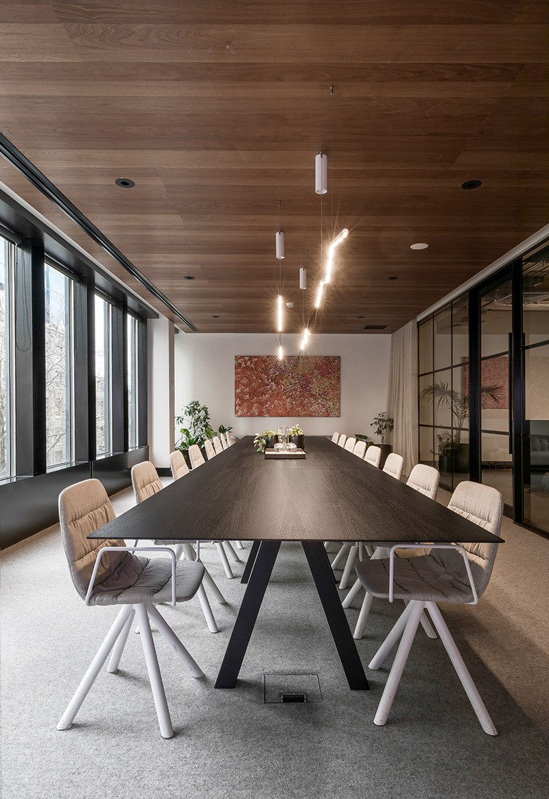 As designers we have the ability to greatly influence how a person experiences and moves through a spacewe deliberately set the tone of the boardroom to