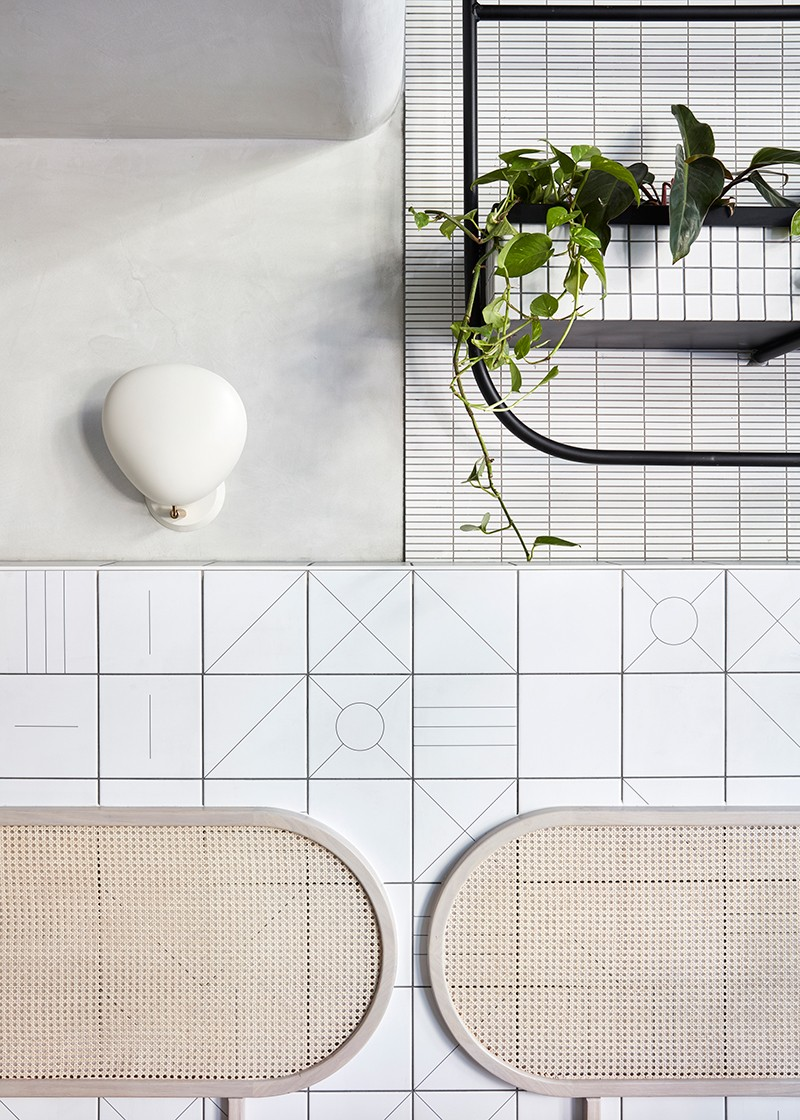 Rattan backrests at Naim by Stella Collective