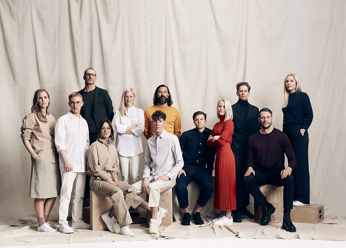 Swedish collective Note Design Studio, with Daniel Hecksher pictured centre in yellow.