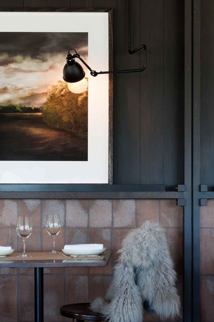 Otomys carefully select the artists on the books, ensuring a mix of international and Australian work at all scales and styles. Pictured: Polperro Winery by Hecker Guthrie, artwork The Second Turning by Rebekah Stuart. Photo by Shannon McGrath.