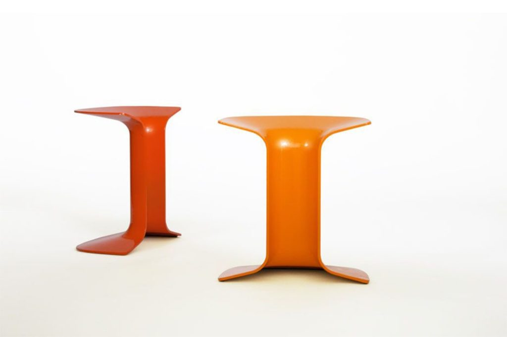 Serif stool by Charles Wilson