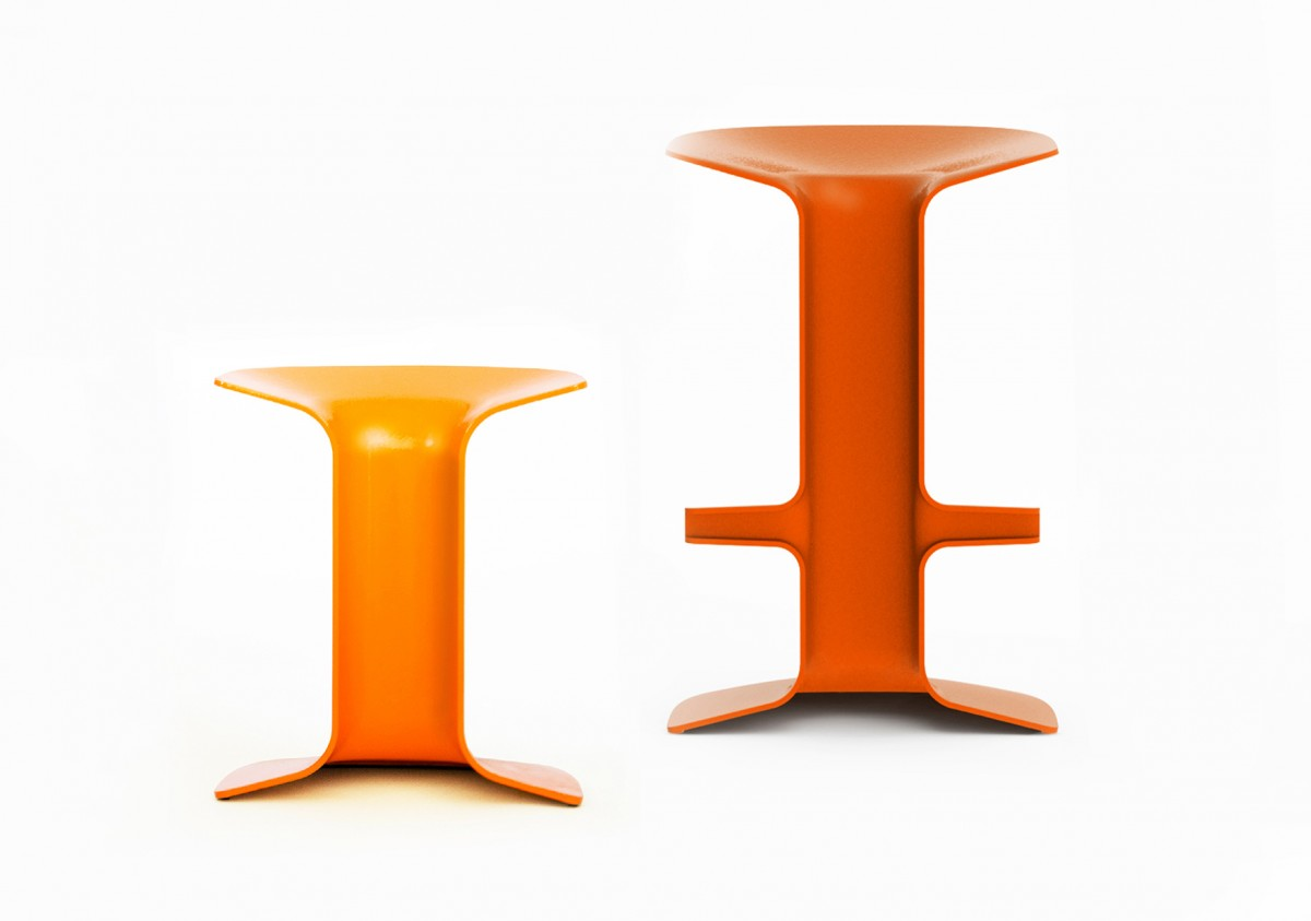 The Serif stool was completely machine prototyped.
