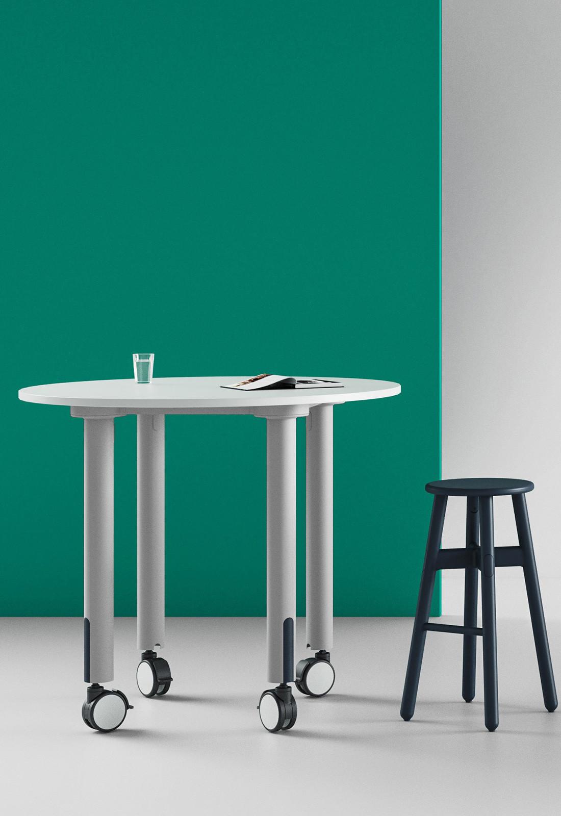 stylecraft silo table white black chair