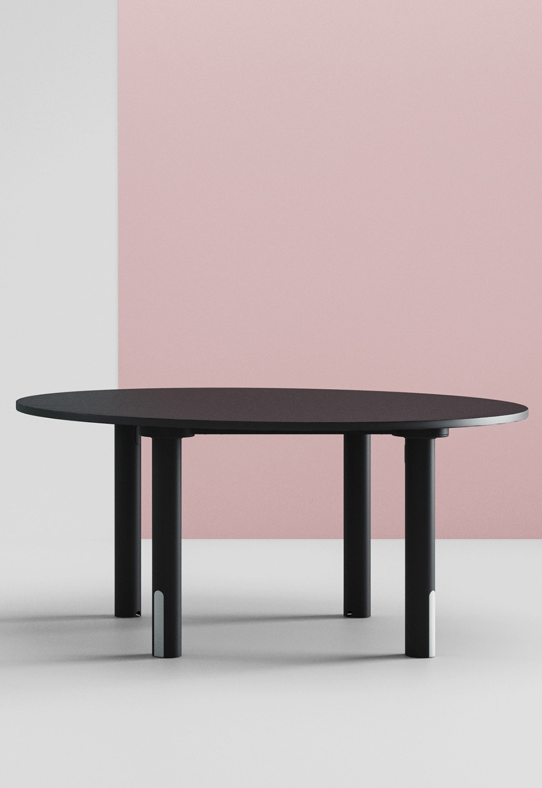 silo table round black
