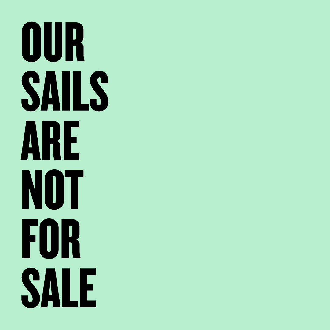 Marcus Piper produced a series of graphics to share with the hashtag #sailsnotsales, rallying the design community together.