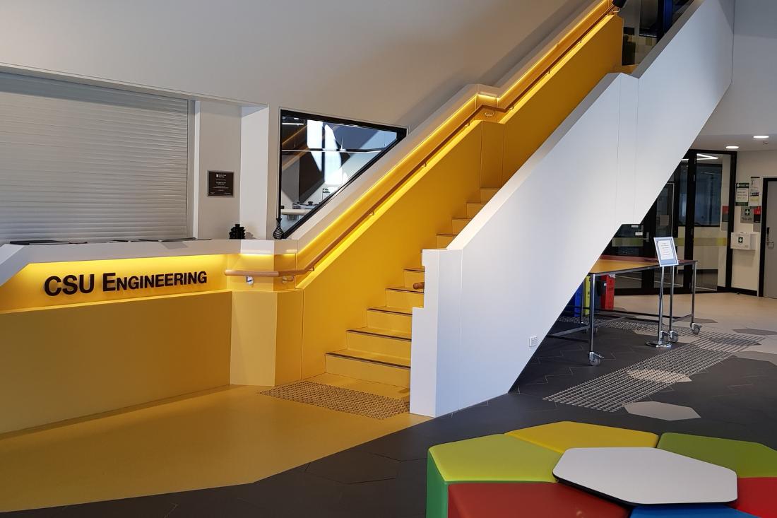 charles sturt university staircase staron