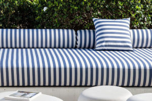 Bliss Upholstery Blue Striped