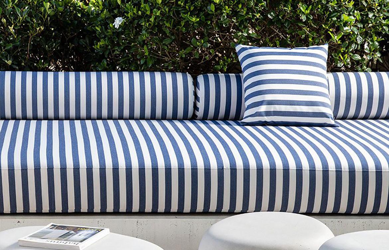 Bliss Upholstery Blue Striped