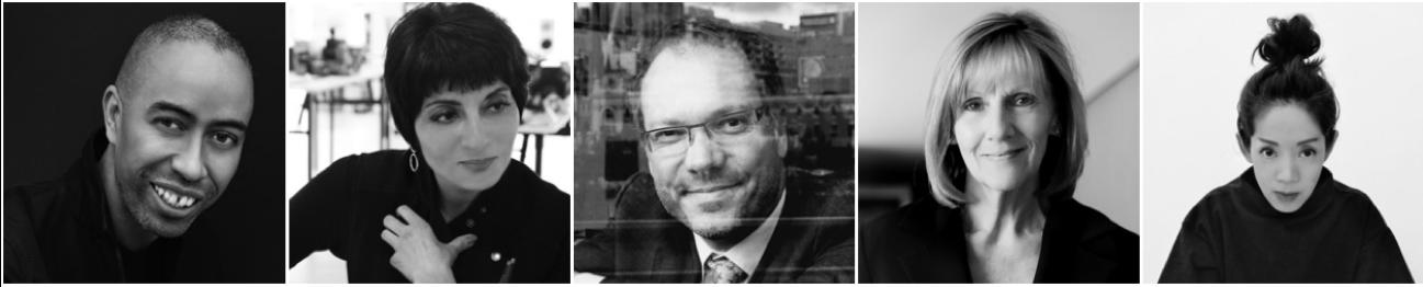 (L-R) Stephen Burks, Stephen Burks Man Made (USA); Shashi Caan, SC Collective (USA/UK); James Calder, Calder Associates (AUS); Sue Carr, Carr (AUS), Judy Cheung, cheungvogl (HONG KONG).