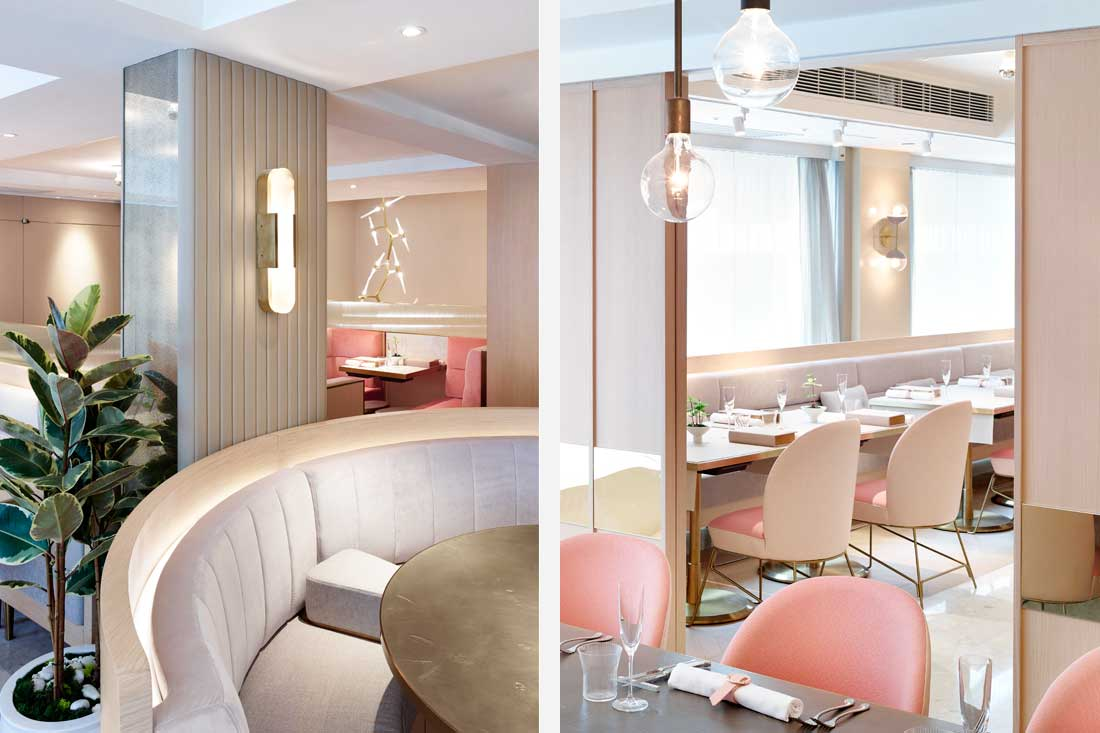 More Pink Interiors And Were Not Complaining TATE Dining Room Bar By JJA Bespoke Architecture