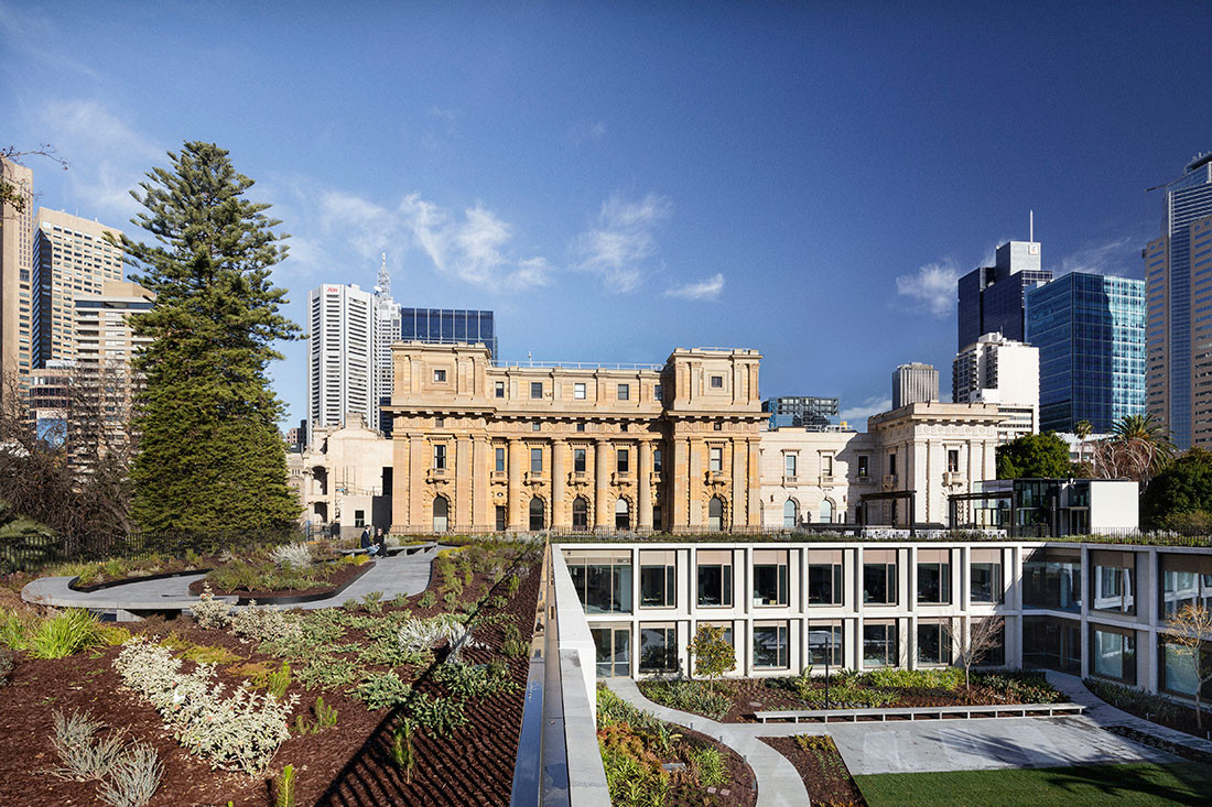 Parliament of Victoria Members' Annexe by Peter Elliott Architecture + Urban Design. Photo by John Gollings.