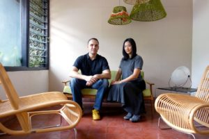 Florian Heinzelmann (left) and Daliana Suryawinata (right) at SHAU's Bandung studio