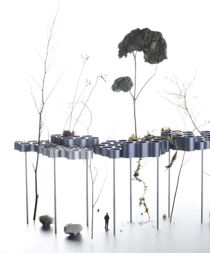 Cloud exhibit at Urban Daydreaming. Photo courtesy of Studio Bouroullec.