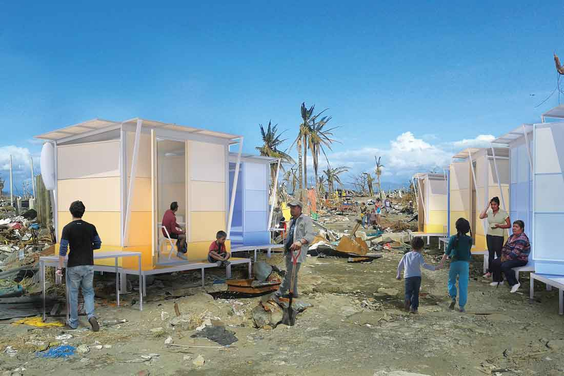 The disaster-relief concept Living Shelter by WY-TO (Singapore) was shortlisted in The Influencer category in 2017