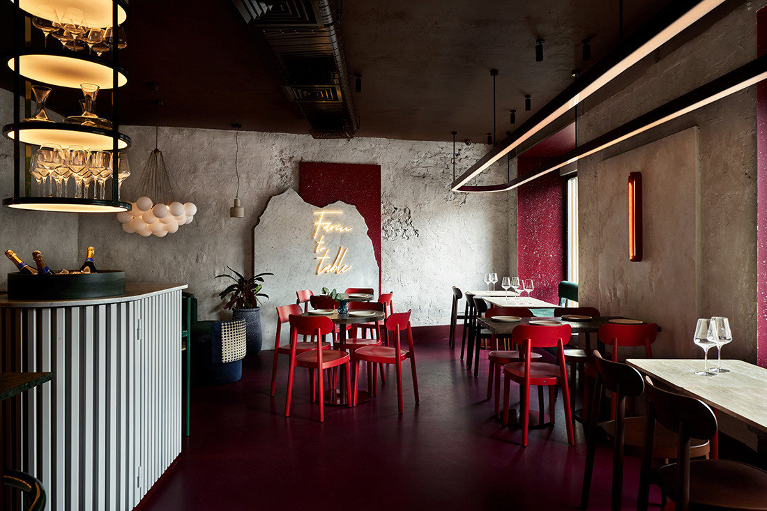 Colour and texture collide at Commons by Yuloo Studio
